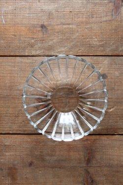 画像1: 古道具/デッドストック レトロなガラス器 大 デイジー フラワー