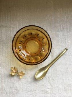 画像1: 古道具/デッドストック 飴色 アンバー まる鉢