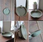 画像: よしざわ窯 /オリーブグリーン りんご皿