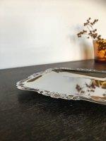 画像: 古道具/デッドストック 古いステンレスの皿 正方 d